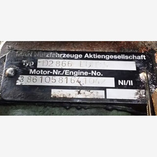 Man engine motor label