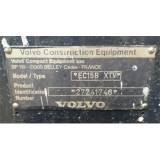 Volvo engine motor label