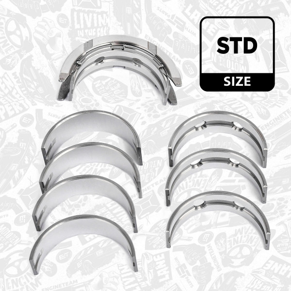 LH004600, Crankshaft Bearings, Main bearing set, ET Engineteam, Ford B-Max C-Max Fiesta Focus Tourneo Transit YYJA 1,0 EcoBoost 2012+