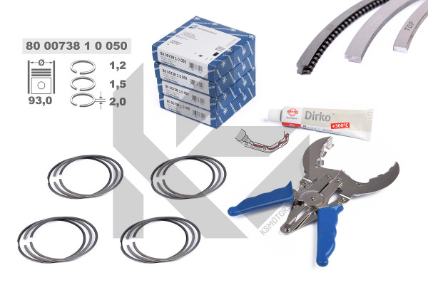 R1010350KS, Piston Ring Kit, Piston rings - repair kit for 1 engine, KOLBENSCHMIDT, 800073810050S