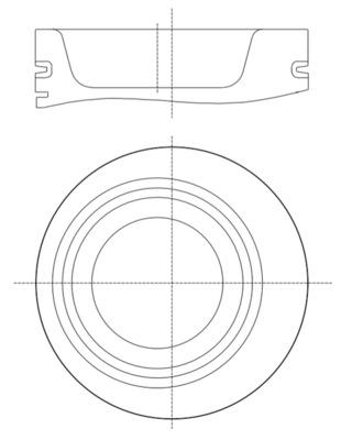 Kolbenringsatz MAHLE 030 82 N0