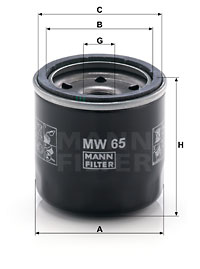 Oil filter replacement MANN 65003144