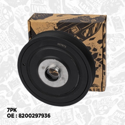PC0006, Belt Pulley, crankshaft, Crankshaft belt pulley, ET Engineteam, Renault Laguna/Megane/Scénic 1,9dCi F9Q 2001+, 8200188832, 8200268426, 8200297936, 8200376911, 8200457775, 8200523072